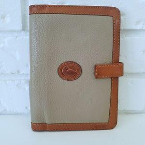 D&B Vintage Small Pebble Leather Checkbook Folio
